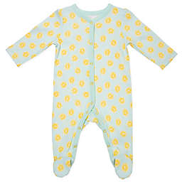 Sterling Baby Lemons Snap-Up Footie in Turquoise