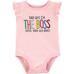carter's® Dad Boss Sleeveless Bodysuit in Pink
