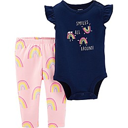 carter's® 2-Piece Smiles All Around Bodysuit and Legging Set