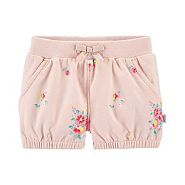 OshKosh B'gosh® Floral Tacked Bow Short in Pink