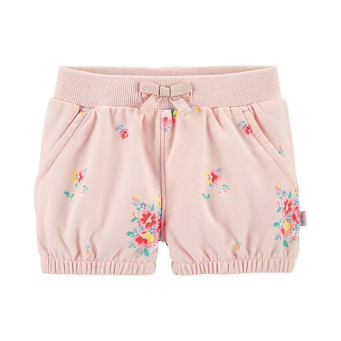 Alternate image 1 for OshKosh B'gosh® Floral Tacked Bow Short in Pink