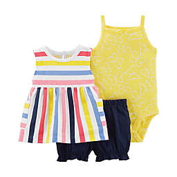 carter's® 3-Piece Striped Tunic, Bodysuit and Short Set