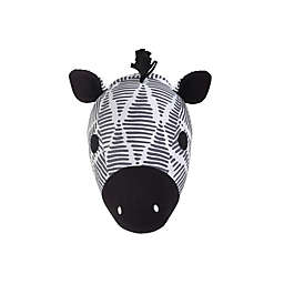 Nojo® Zebra Head Plush Wall Decor 13-Inch x 13-Inch Framed Wall Art in Black