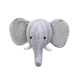Nojo® Elephant Head 9-Inch x 11-Inch Plush Wall Decor in Grey