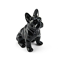 Elements by Pfaltzgraff® Ceramic Bull Dog Figurine in Black