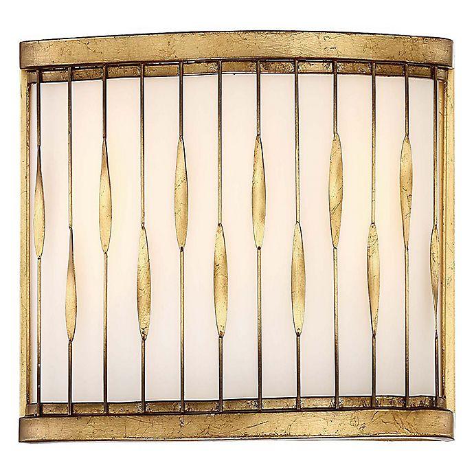 Alternate image 1 for Minka Lavery Olivetas 3-Light Wall Light in Gold (Set of 3)