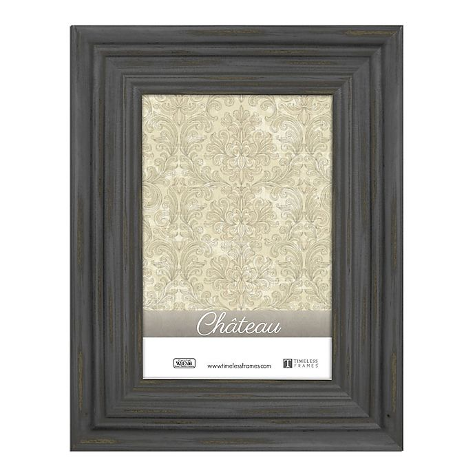 Alternate image 1 for Chateau 4-Inch x 6-Inch Picture Frame in Distressed Black