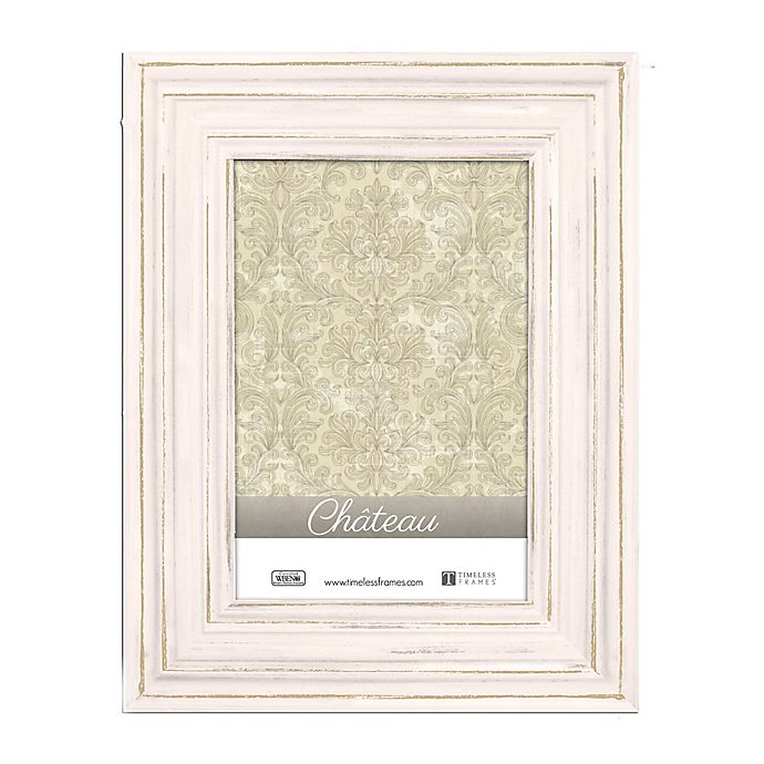Alternate image 1 for Chateau 4-Inch x 6-Inch Picture Frame in Distressed Cream