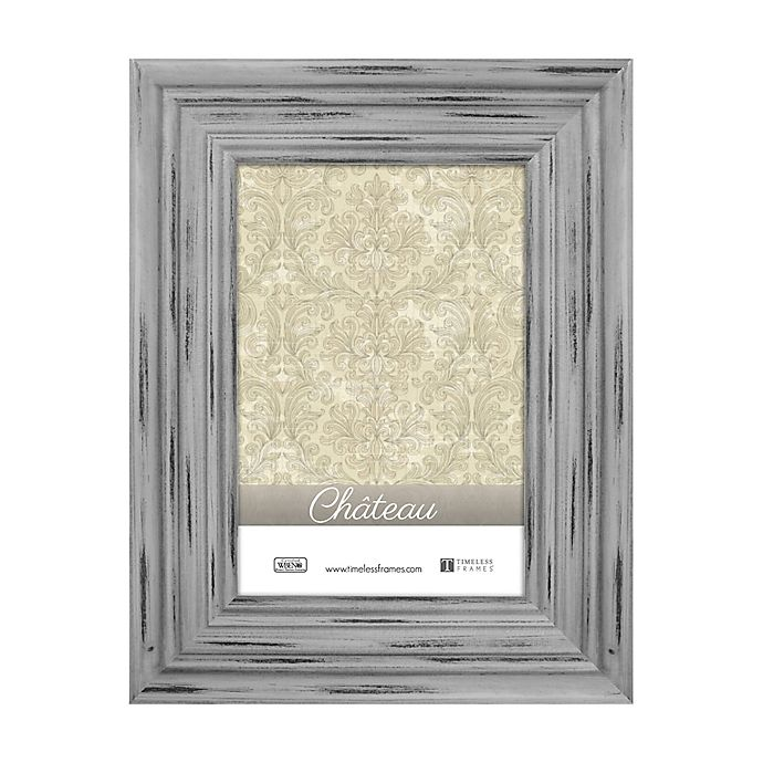 Alternate image 1 for Chateau 4-Inch x 6-Inch Picture Frame in Distressed Grey