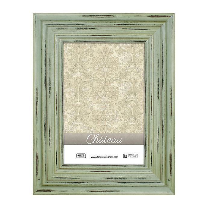 Alternate image 1 for Chateau 4-Inch x 6-Inch Picture Frame in Distressed Green
