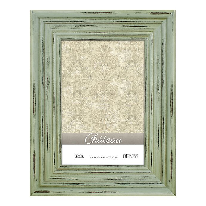 Alternate image 1 for Chateau 5-Inch x 7-Inch Picture Frame in Distressed Green