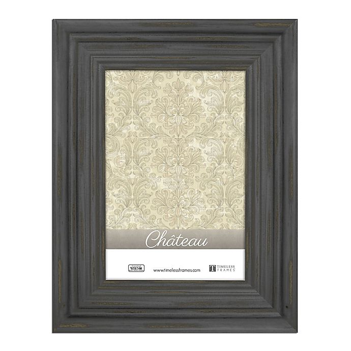 Alternate image 1 for Chateau 8-Inch x 10-Inch Picture Frame in Distressed Black