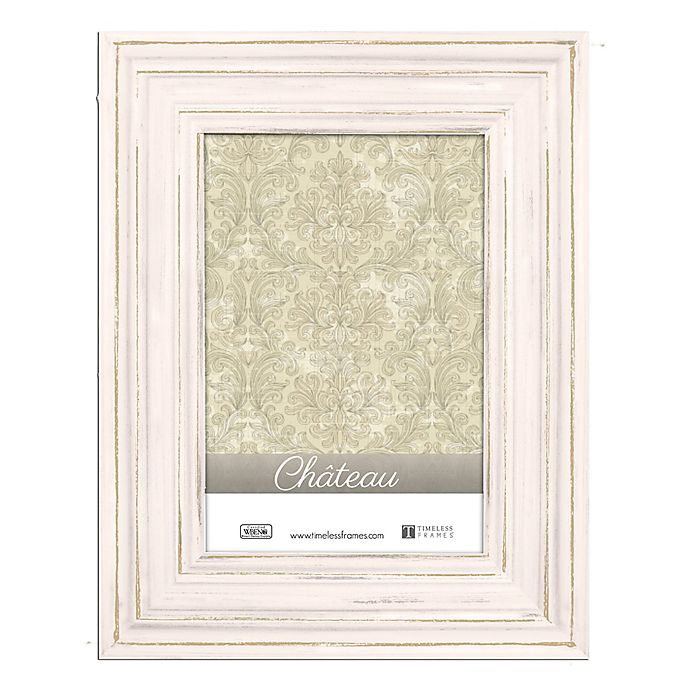 Alternate image 1 for Chateau 8-Inch x 10-Inch Picture Frame in Distressed Cream