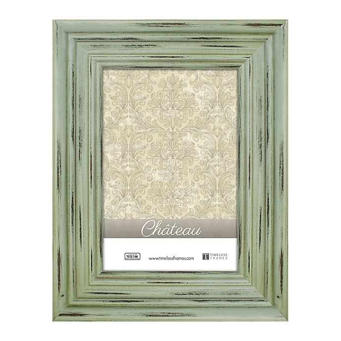 Alternate image 1 for Chateau 8-Inch x 10-Inch Picture Frame in Distressed Green