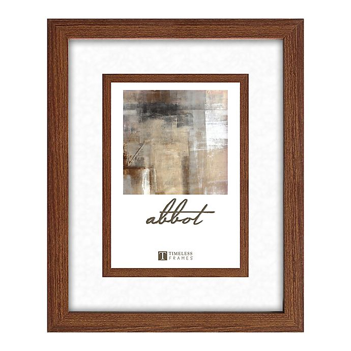 Alternate image 1 for Abbot 5-Inch x 7-Inch Matted Picture Frame in Walnut