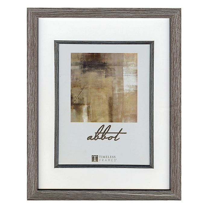 Alternate image 1 for Abbot 5-Inch x 7-Inch Matted Picture Frame in Grey
