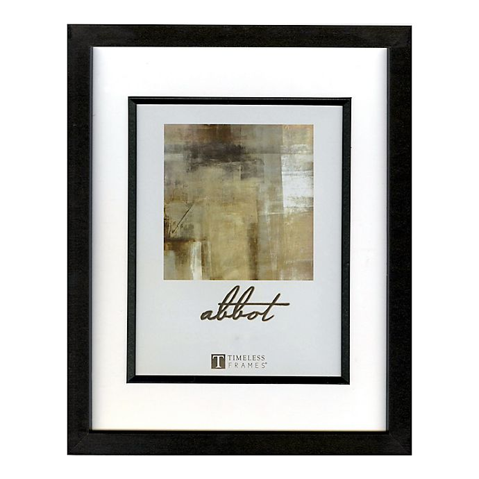 Alternate image 1 for Abbot 5-Inch x 7-Inch Matted Picture Frame in Black