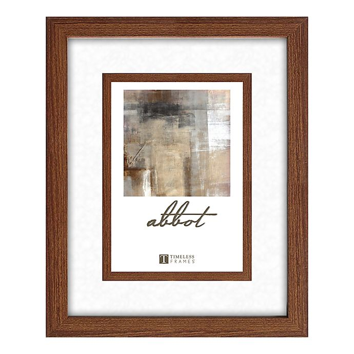 Alternate image 1 for Abbot 8-Inch x 10-Inch Matted Picture Frame in Walnut