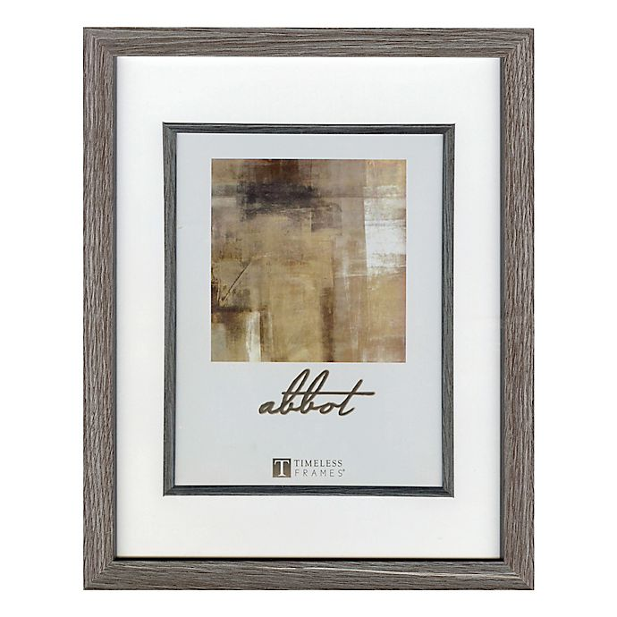 Alternate image 1 for Abbot 8-Inch x 10-Inch Matted Picture Frame in Grey