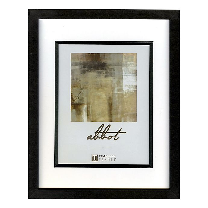 Alternate image 1 for Abbot 8-Inch x 10-Inch Matted Picture Frame in Black