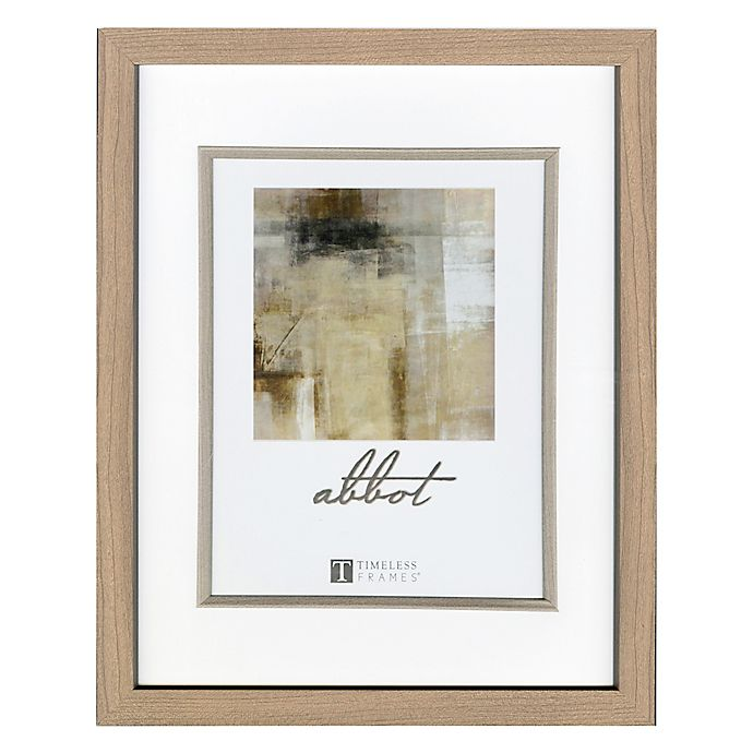Alternate image 1 for Abbot 11-Inch x 14-Inch Matted Picture Frame in Oak