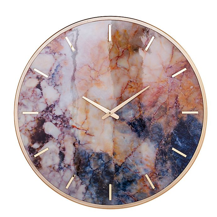 Alternate image 1 for Southern Enterprises Marbella 23.5-Inch Round Wall Clock
