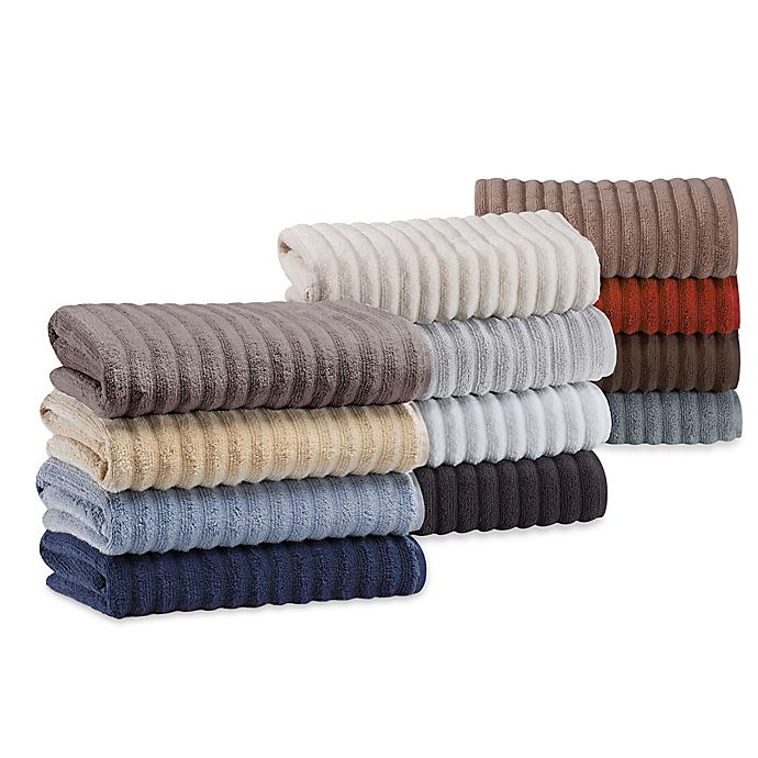 Alternate image 1 for Turkish Ribbed Bath Towel Collection