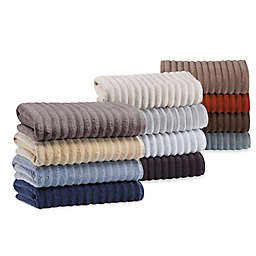 Turkish Ribbed Bath Towel Collection