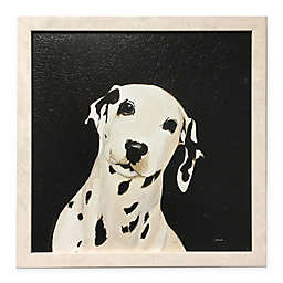 Dalmatian 17.42-Inch Square Framed Wall Art in Black/White