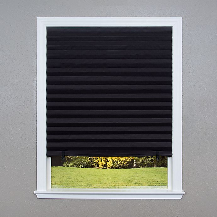 Alternate image 1 for Redi Shade 4pk Blackout Cordless 48-Inch x 72-Inch Paper Window Shade in Black