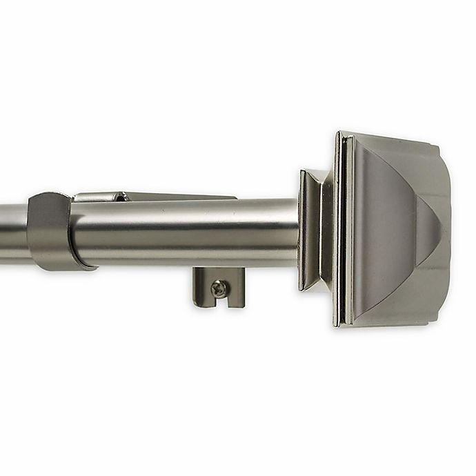 Alternate image 1 for Classic Square Telescoping Window Curtain Rod in Satin Nickel