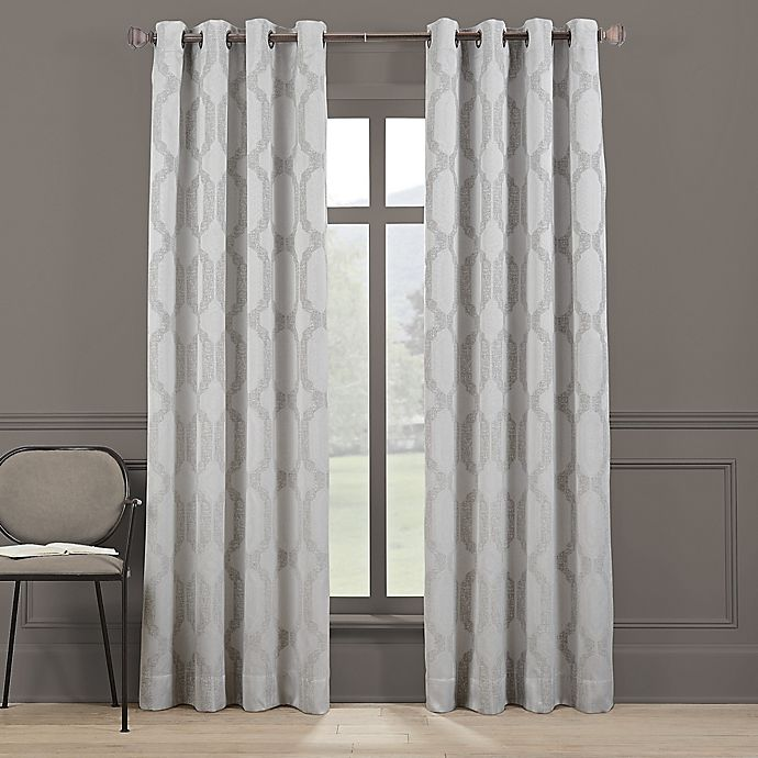Alternate image 1 for Brookstone® Paxton 100% Grommet Blackout Window Curtain Panel