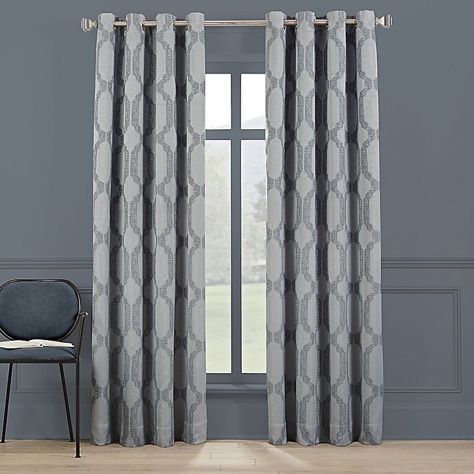 Alternate image 1 for Brookstone®Paxton 84-Inch Grommet 100% Blackout Window Curtain Panel in Spa