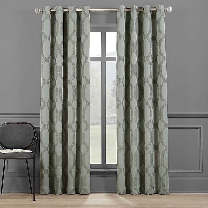Alternate image 1 for Brookstone® Paxton 108-Inch Grommet 100% Blackout Window Curtain Panel in Basil