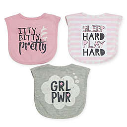 Neat Solutions® 3-Pack Water Resistant Heather Infant Bibs
