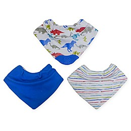 Neat Solutions® 3-Pack Bandana Bibs with Teether