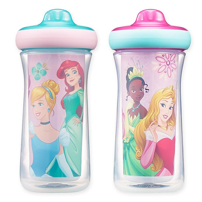 Alternate image 1 for Disney® Princess ImaginAction™ 2-Pack 9 oz. Insulated Hard Spout Sippy Cups