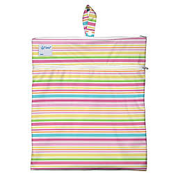 i play.® Mini-Stripe Wet/Dry Bag in White