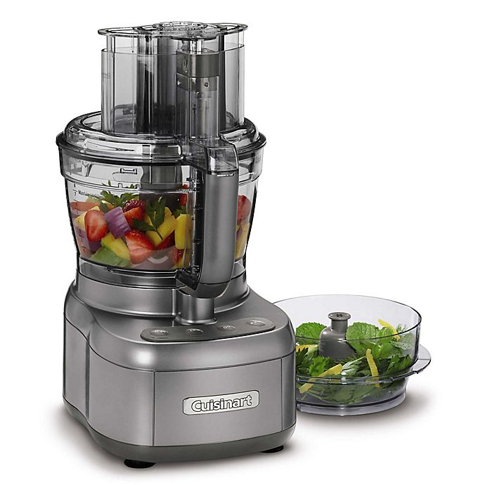 Alternate image 1 for Cuisinart® Elemental Food Processor with 11-Cup and 4.5-Cup Workbowls in Gunmetal