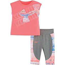 Under Armour® 2-Piece Logo Short Sleeve Top and Capri Set