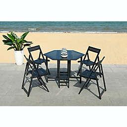 Safavieh Kerman 5-Piece Patio Dining Set in Black