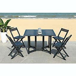 Safavieh Arvin 5-Piece Patio Dining Set in Black
