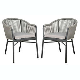 Safavieh Nicolo Rope Patio Chairs in Grey (Set of 2)