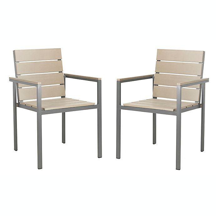 Safavieh Beldan Stackable Patio Chairs