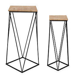 Kate and Laurel Gabriele Nesting Tables in Rustic Brown (Set of 2)