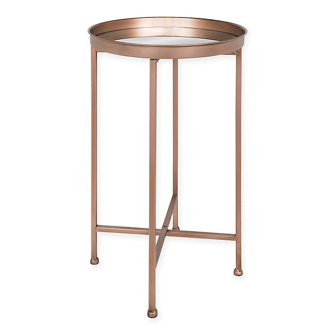 Alternate image 1 for Kate and Laurel® Deliah Round Accent Table in Rose Gold