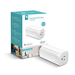 Tp-Link Kasa Smart Wi-Fi Plug Mini with Dual Outlet in White
