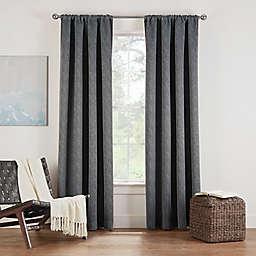 Eclipse Twilight Luna 54-Inch Rod Pocket Room Darkening Window Curtain Panel in Charcoal