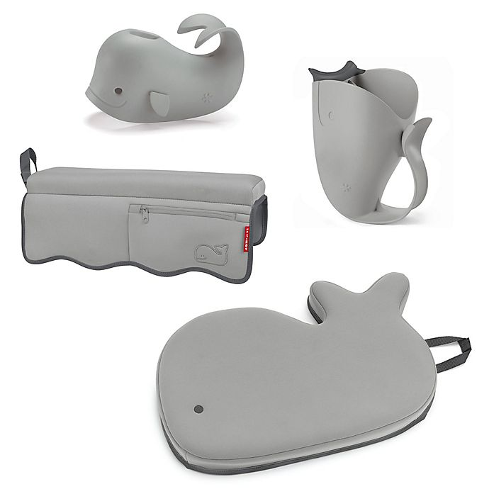 Alternate image 1 for SKIP*HOP® Moby® 4-Piece Bath Time Essentials Kit in Grey