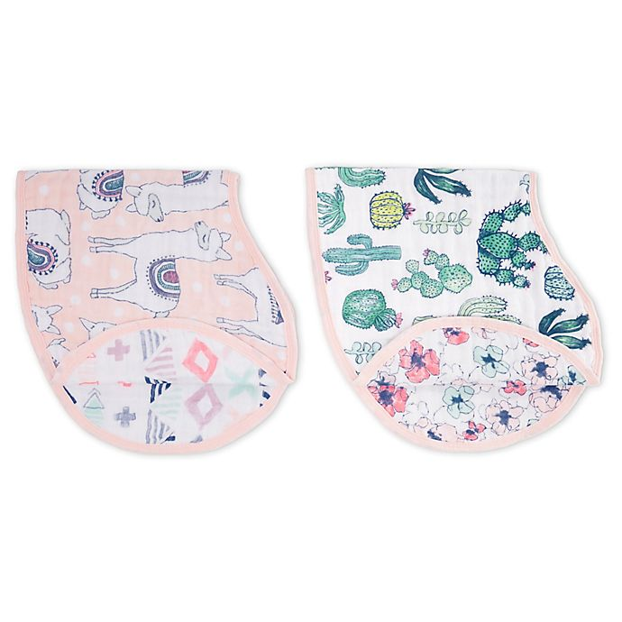 Alternate image 1 for Aden + Anais 2-Pack Trail Blooms Burpy Bibs